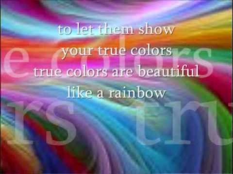 True colours by cyndi Lauper with lyrics