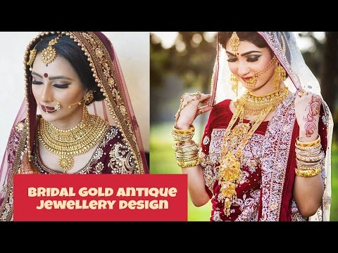 BRIDAL ANTIQUE GOLD ORNAMENTS DESIGN