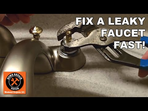 How to Fix a Leaky Faucet in 5 Minutes -- by Home Repair Tutor - YouTube