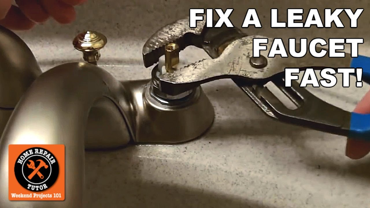 how to fix a leaky faucet fast