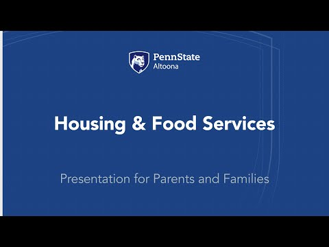 Housing And Food Services | Penn State Altoona