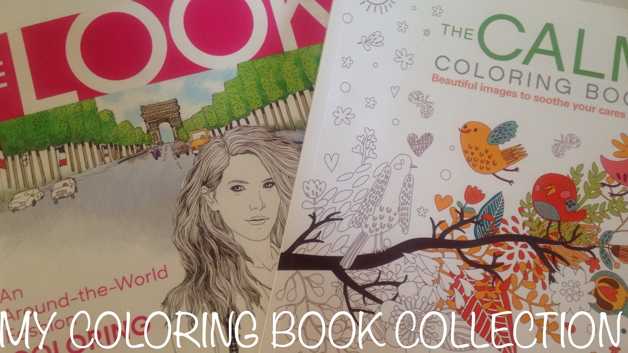 My Adult Coloring Book Collection Finished Pages Youtube