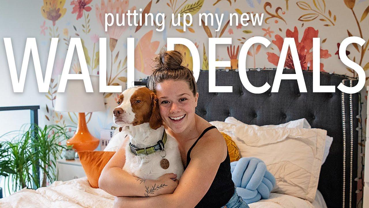 Loft Bedroom Update | Installing Wall Decals | Bella Bucchiotti