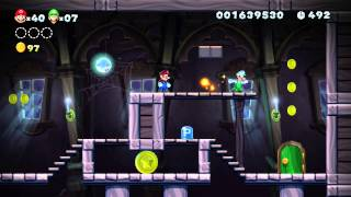 Frosted Glacier - Swaying Ghost House (New Super Mario Bros: U)