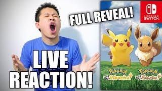 [LIVE REACTION] Pokémon Let's Go, Pikachu! and Pokémon Let's Go, Eevee! Trailer