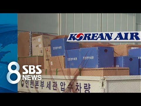 대한항공 협력업체 압수수색…'밀수 의심' 2.5톤 현물 확보 / SBS