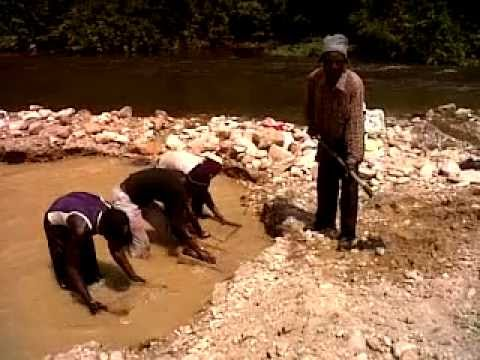 Gold mining in the DRC.