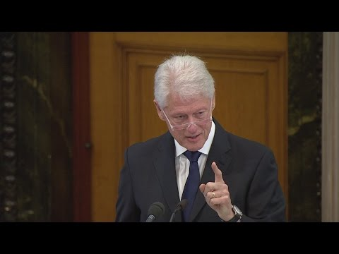 Full speech: Bill Clinton's eulogy for Martin McGuinness
