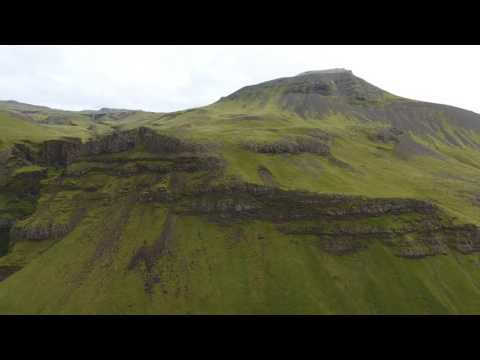Iceland Green Mountains