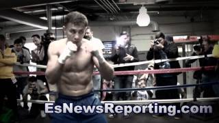 Gennady Golovkin Vs David Lemieux Workout Vs Workout - Esnews Boxing