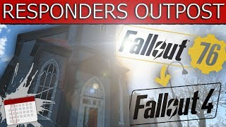 Fallout 4 Settlement Building - BUILDING FALLOUT 76 CONTENT! (first responders outpost/aidstation)