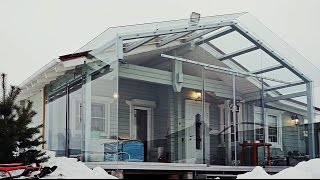 Дом с баней за 1.8 миллиона с оригинальной террасой.