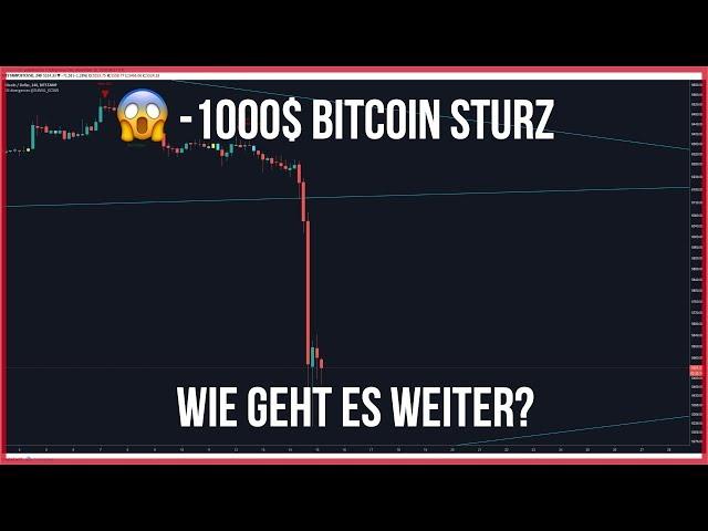 😱-1000$ Bitcoin Sturz - Wie geht es jetzt weiter? - Ethereum auch?