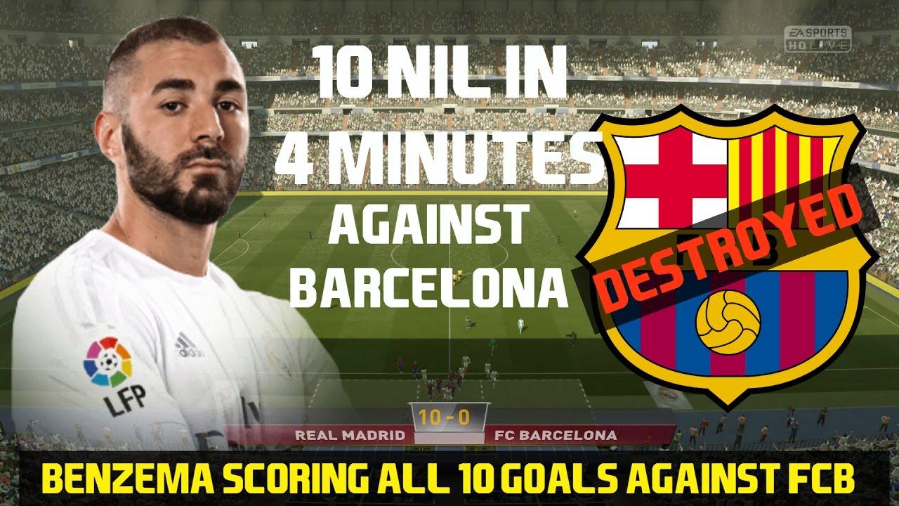 BENZEMA Destroys Barcelona FIFA17:1