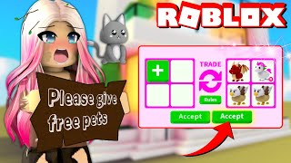Wengie Being Poor In Roblox Adopt Me To See What Free Stuff People Would Trade!