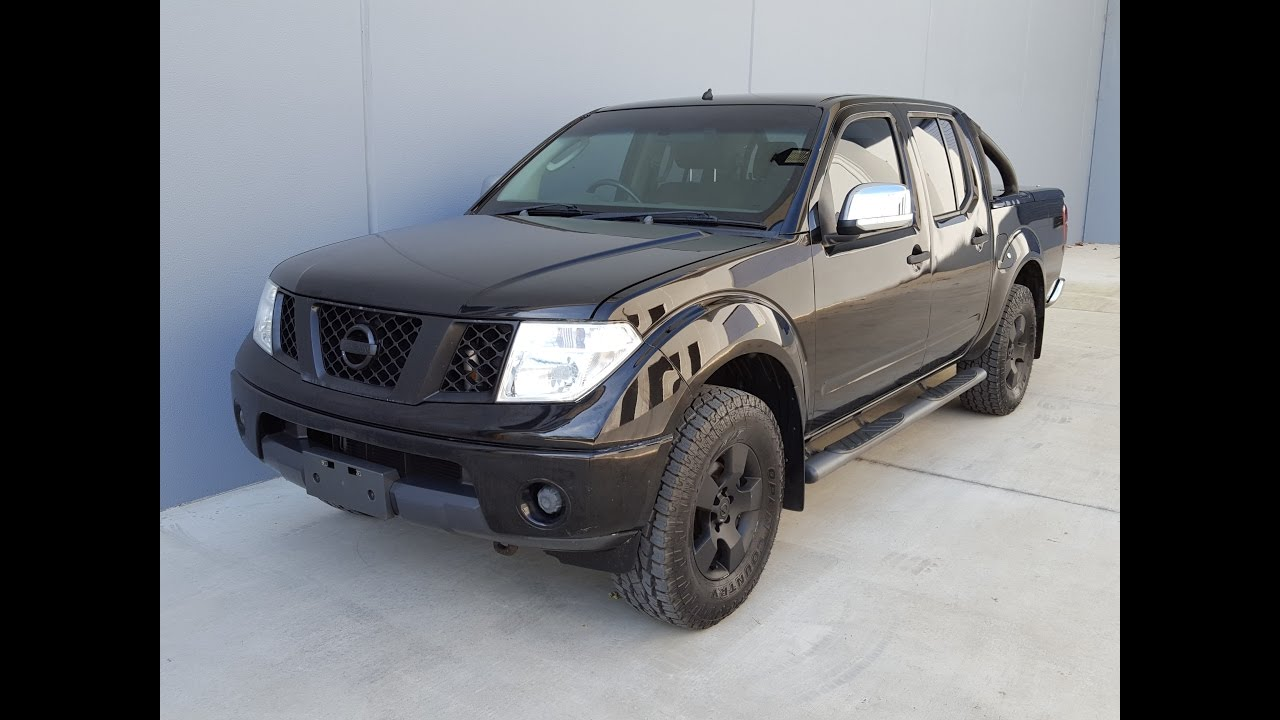 sold blacked out nissan navara d40 twin cab diesel ute 2007 review youtube. Black Bedroom Furniture Sets. Home Design Ideas