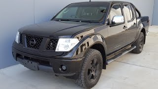 (SOLD) Blacked out Nissan Navara D40 Twin Cab Diesel ute 2007 review