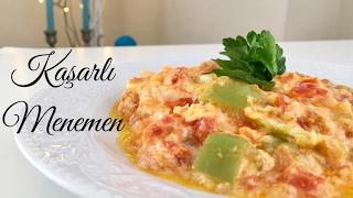 Kaşarlı Menemen - Pratik Tarif / Yemek Tarifleri - Melis'in Mutfağı