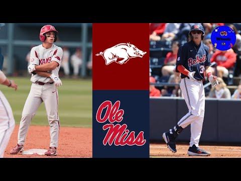 Download #2 Arkansas vs #3 Ole Miss Highlights (Game 1)   2021 College Baseball Highlights