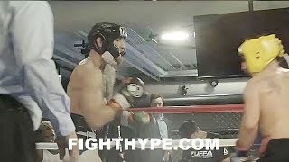 (WOW!!) MCGREGOR VS. MALIGNAGGI SPARRING FOOTAGE; MCGREGOR LIGHTS HIM UP AND DROPS HIM