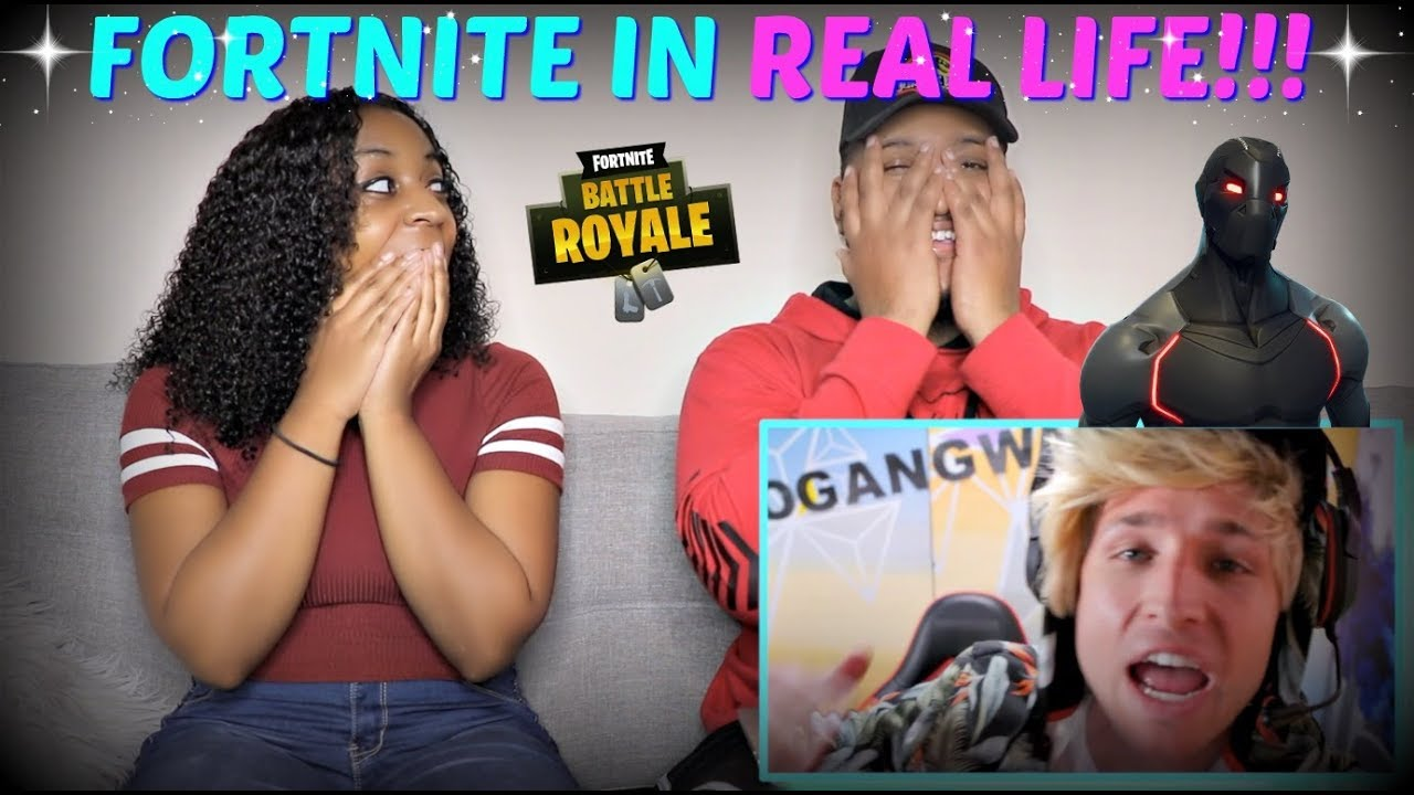 """Smosh """"FORTNITE IN REAL LIFE"""" REACTION!!!"""