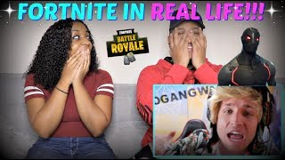 "Smosh ""FORTNITE IN REAL LIFE"" REACTION!!!"