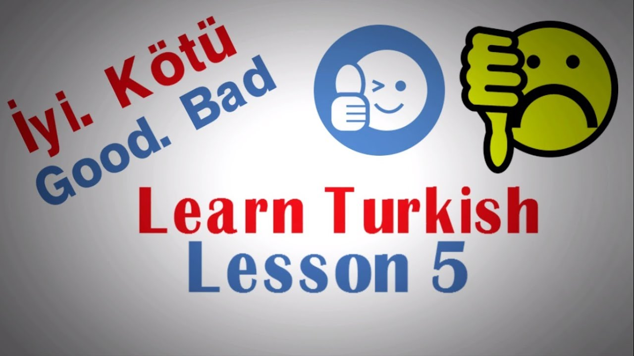 Learn Turkish Lesson 5 -10 important words in daily life usage - Must Learn