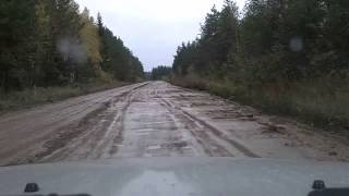 Р-37 поворот на Вознесенье - Вытегра(Ускоренное видео проезда по автодороге Р-37