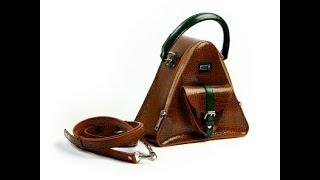 """Обзор сумки. Женская сумка. Сумка треугольная  """"San_Remo"""". Bag overview. Women's bag triangular."""