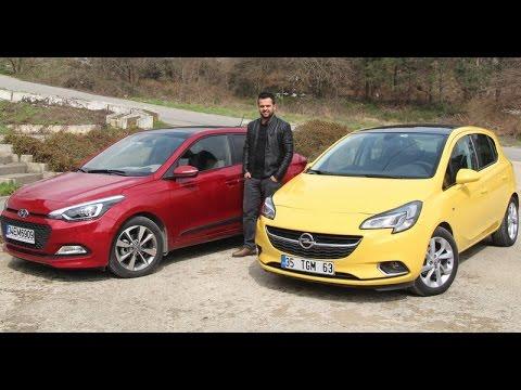 Karşılaştırma - Hyundai i20 vs Opel Corsa - YouTube
