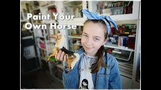Paint Your Own Ceramic Horse ❀ Emily's Small World ❀