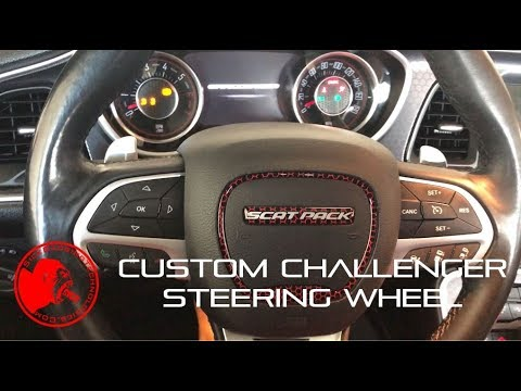 Custom Scat Pack Challenger Steering Wheel Badges Youtube