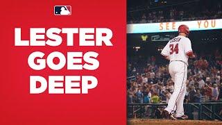 Jon Lester CRUSHES 419-foot home run!