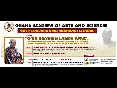 Ephraim Amu Memorial Lecture (2017)