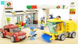 レゴ シティ ガソリンスタンド 60132  レッカー車 道路清掃車 給油 / Lego City Service Station 60132
