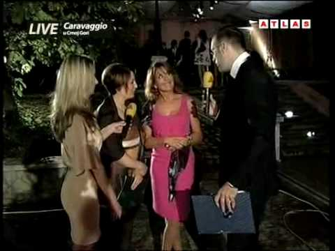 caravaggio in montenegro: Opening Ceremony live on Atlas TV, interview Letizia Barbanti
