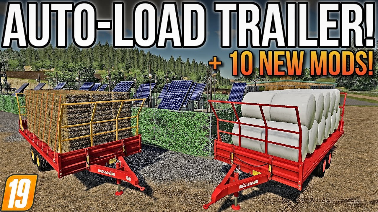 AUTO LOAD BALE TRAILER OUT FOR CONSOLE & PC! + Tons Of Other New Mods! |  FS19 Mods