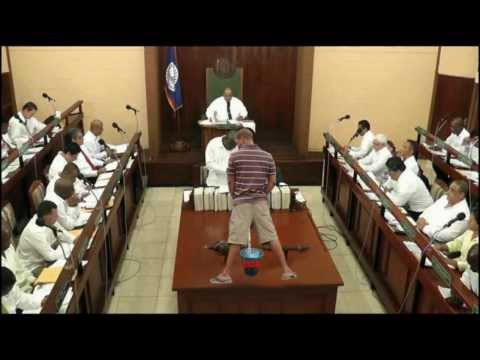 """URINATION IN BELIZE'S GOVERNMENT """"UD PEE"""""""