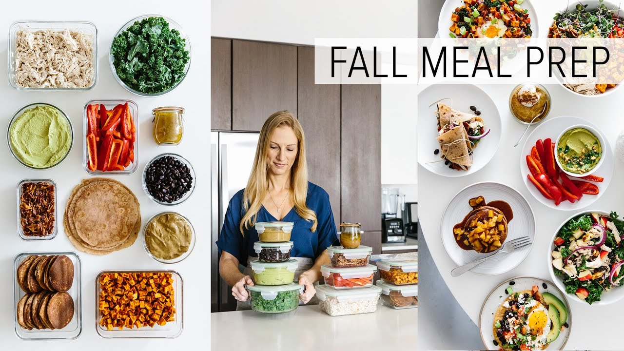 MEAL PREP for FALL | healthy recipes + PDF guide