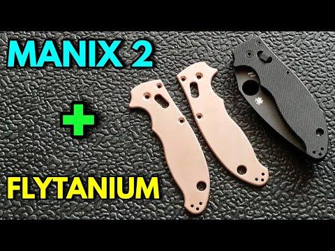 Spyderco Manix 2 Flytanium Copper Scales Installation