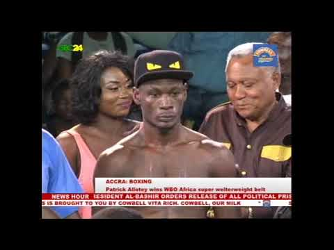 Boxing: Patrick Allotey wins WBO Africa welterweight belt