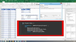 Excel Magic Trick 1430: DAX Functions XNPV & XIRR for Irregular Cash Flow Net Present Value & IRR