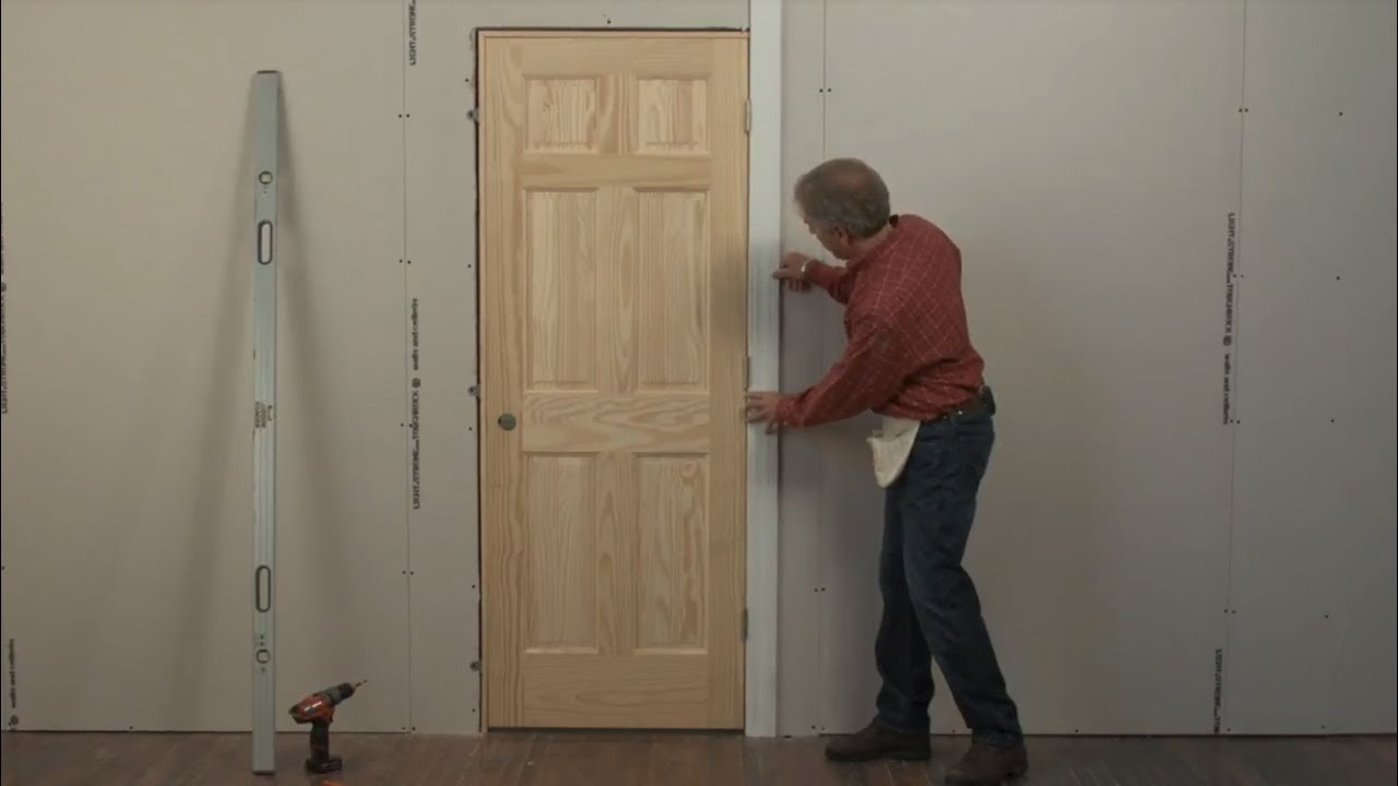 Beau Beginners Learn How To Install A Door In 4 Minutes, Without Shimming!