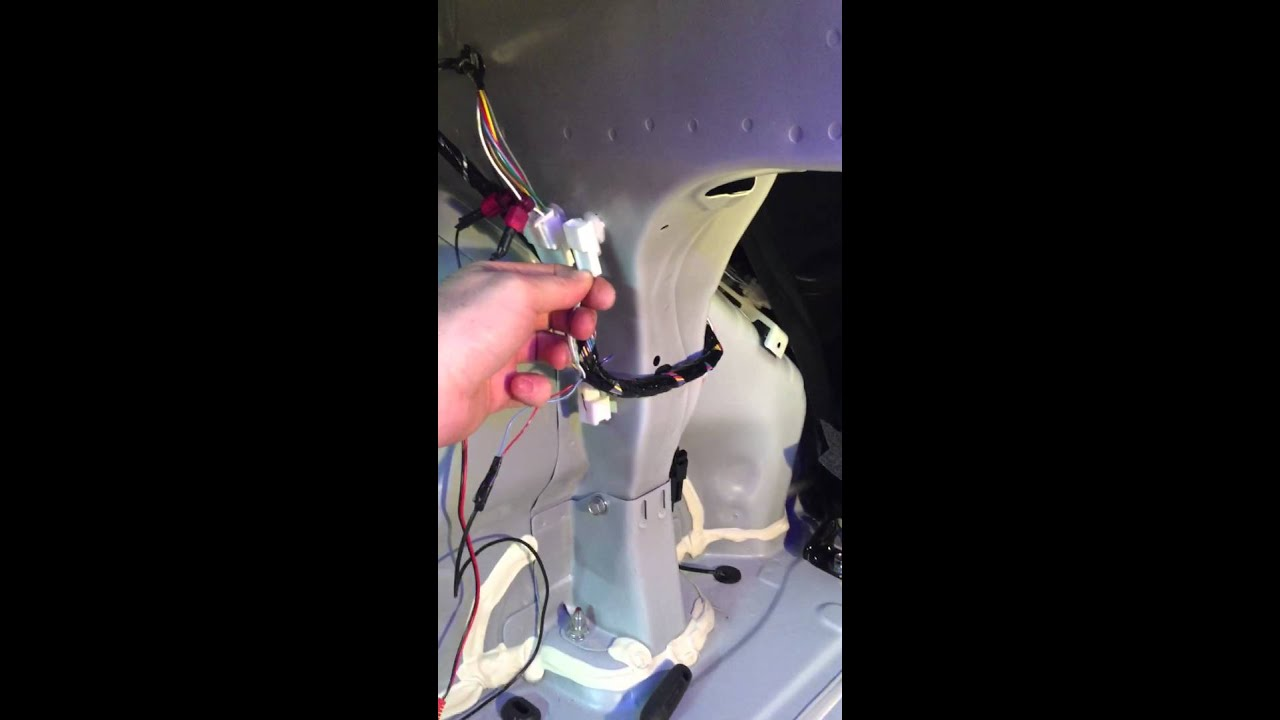 maxresdefault how to install a rear view camera on mitsubishi lancer youtube Factory Car Stereo Wiring Diagrams at creativeand.co