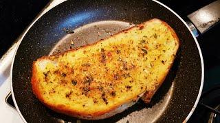 Haftasonu Kahvaltısı için Hep Yaptığım Bir Tarif Garlic Cheese Bread Sarımsaklı peynirli ekmek