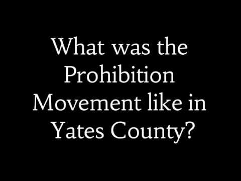 Prohibition in Yates County
