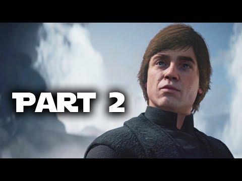 Star Wars Battlefront 2 Gameplay Walkthrough Part 2 - LUKE SKYWALKER (Single Player Campaign)