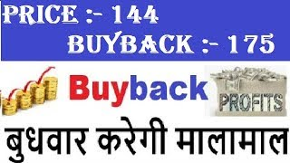 Latest BUYBACK NEWS Price 144 = BUYBACK PRICE 175..