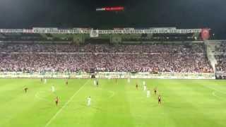 Amazing Besiktas fans at Inonu stadium in Istanbul HD