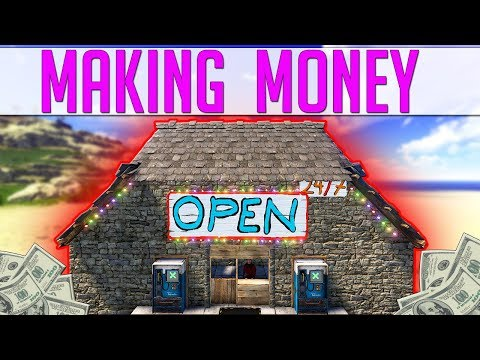 Running a BIG VILLAGE with Multiple STORE OWNERS - Funny Rust Shop